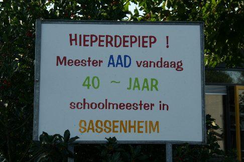 Nieuw Meester Aad 40 jaar onderwijzer – De Teyding HO-71